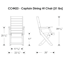 Dining Room Chair Height Dimensions Of A Captain