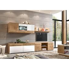 tv wand set mit led glaskantenbeleuchtung lombardo 61 im modernen stil