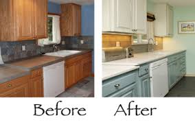 Painting Kitchen Cabinets Before And After Kitchen Cabinet Colors