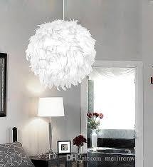 feather white modern ceiling light pendant l living room