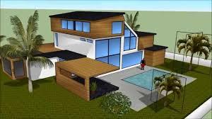 100 Modern Summer House SketchUp Modern Summer House