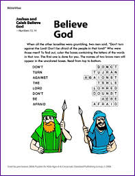 Coloring Pages Joshua And Caleb At Believe God Puzzle About