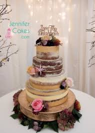 Contoured Buttercream Wedding Cake With Sugar Roses Rustic Semi Naked Gold Banding