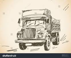 100 Truck Drawing Hand Lorry Stock Vector Royalty Free 84825121 Shutterstock