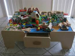 wooden train table for kids home design by john