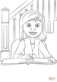 Click The Inside Out Riley Coloring