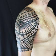 Simple One Half Sleeve Tribal Tattoo 2