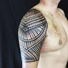 Simple One Half Sleeve Tribal Tattoo 2