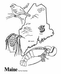 Maine State Outline Coloring Page