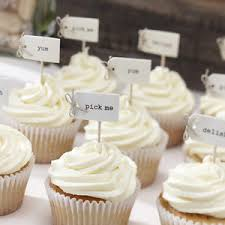Image Is Loading VINTAGE CAKE PICKS TOPPERS FOOD FLAGS RUSTIC WEDDING