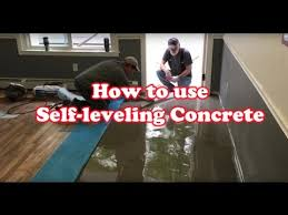 how to level uneven floor with self leveling concrete