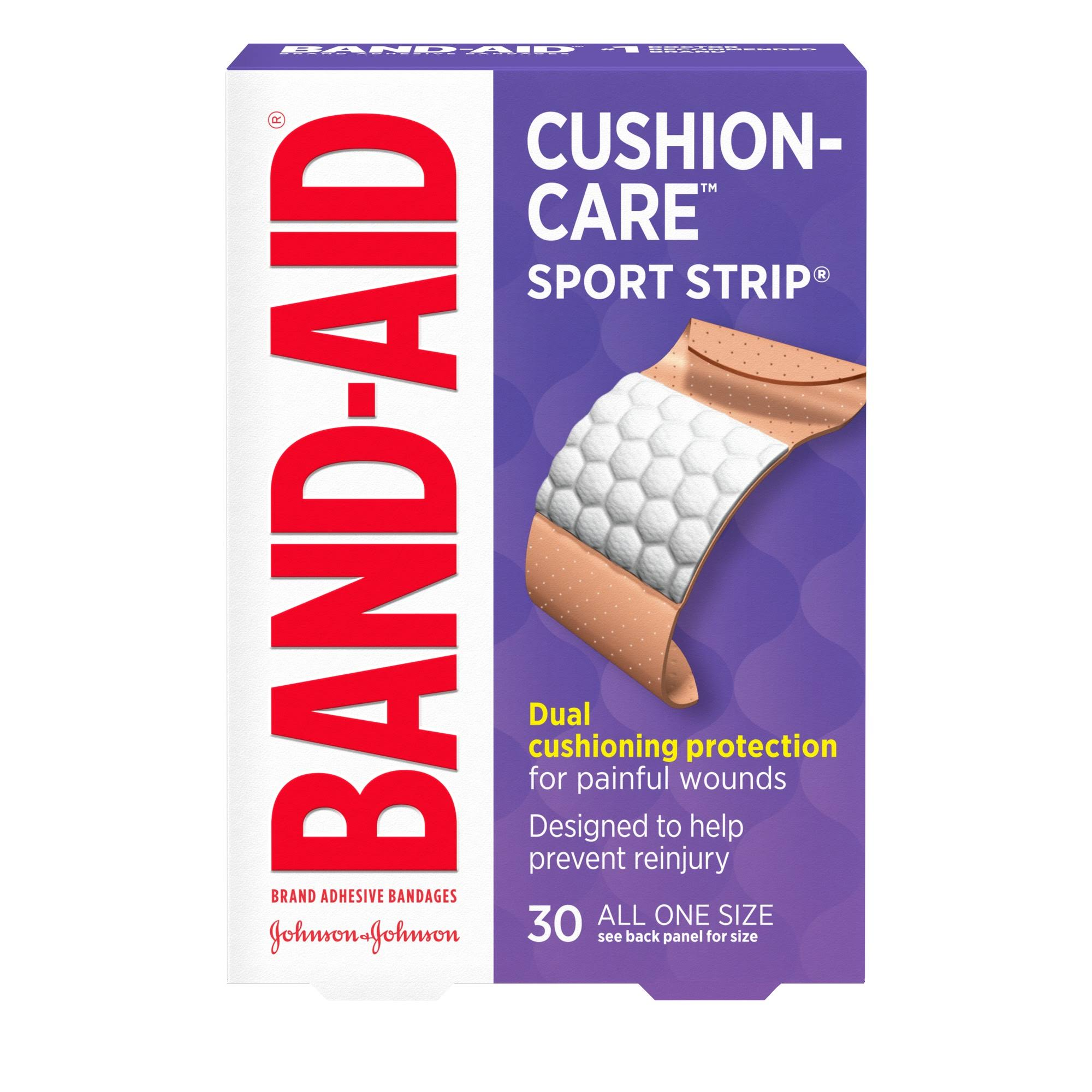 Band-Aid Sport Strip Adhesive Bandages - Extra Wide, x30