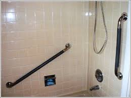 how to install safety bars in tile shower 盪 inviting bathroom