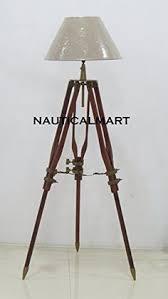 nauticalmart nickle finish spot search light with single wood