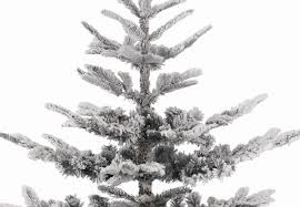 Flocked Christmas Tree 9ft by 9ft Snowy Nobilis Fir Life Like Artificial Christmas Tree Hayes