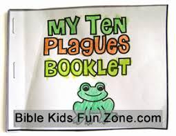 Mini Ten Plagues Coloring Book For Children