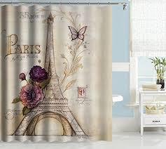 Paris Eiffel Tower Bathroom Accessories by Uphome Vintage Paris Themed Light Brown Eiffel Tower Bathroom