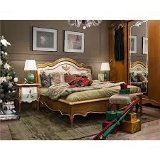 schlafzimmer set teresa echtholz gognac mit silberner