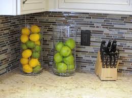 Kitchen Backsplash Design And I Like The Fruit Holder Idea