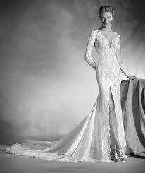 nenufar lace mermaid wedding dress with bateau neckline and