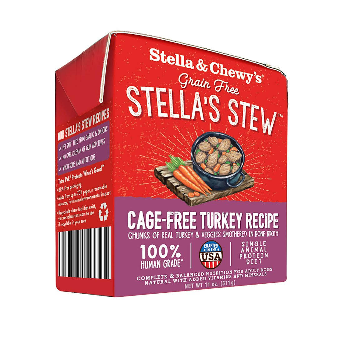 Stella & Chewy's 11 oz Cage-Free Turkey Recipe Dog Food