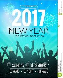 2017 Nyew Year Party Dance People Background Vector Event Flyer Poster Design