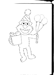 Elmo Coloring Pages To Print Birthday RedCabWorcester