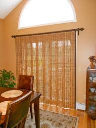 Decorative Traverse Rod For Patio Door by Sliding Glass Door With Averte Woven Wood Woven Wood Vertical