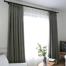 unifarbe vorhang minimalismus grau braun aus leinen und
