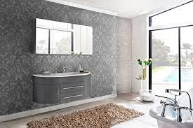 sam badmöbel dali 2tlg design badezimmer set grau hochglanz waschplatz 140 cm mit mineralgussbecken und 1 spiegelschrank softclose funktion
