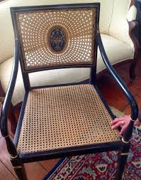 Recaning A Chair Back by Hand Woven Natural Rush And Caned Chair Seats