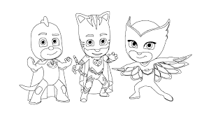 Coloring Page Pages Of Pj Masks Home Top 30 PJ With Regard To 3