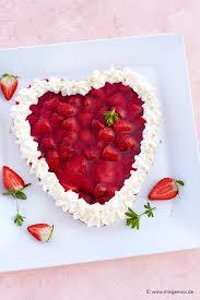 erdbeer herzkuchen
