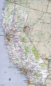 Large Detailed Road And Highways Map Of California State With All Cities High Resolution
