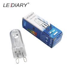 lediar 20pcs bright g9 halogen light bulb 25w 40w 50w