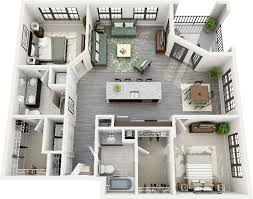 Bedroom Condo Floor Plans Photo by 50 Two 2 Bedroom Apartment House Plans Apartments 3d And