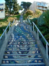 16th Avenue Tiled Steps In San Francisco by Walkin In The Mission In The Rain 16th Avenue Tiled Steps