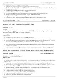 System Administrator Resume Format Template Systems Windows Sample