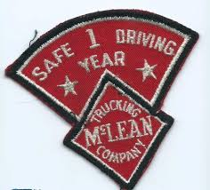 100 Mclean Trucking McLean Company 1 Year Safe Driving Driver Patch 312 X 33