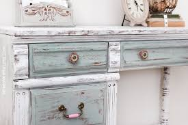 Painted Kids Desk Distressed Chalk Paint Makeover How To Nest For Less Home Design Ideas