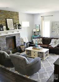 Grey Brown And Turquoise Living Room by Our Diy House 2015 Home Tour The Diy Mommy