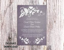 DIY Lace Wedding Invitation Template Editable Word File Download Printable Rustic Vintage Floral Blue