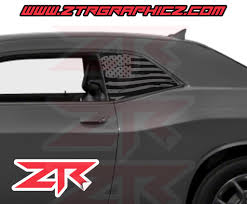 100 Custom Window Decals For Trucks Dodge Challenger Distressed American Flag Decal