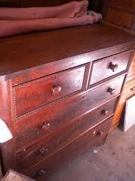 Tiger Oak Dresser Beveled Mirror by Furniture Heirloom Antiques