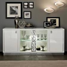 Plush Glass Sideboards For Dining Room Buffet With Doors Caligula Italian White High Gloss Door Sideboard