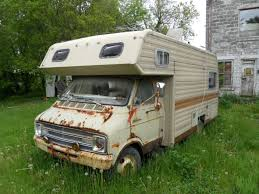 Dodge Champion Camper Opensky83 Tags Old Abandoned Vintage Quebec Class Rv