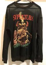 Vintage Sepultura Sweatshirt Shirt 90s Thrash Metal Slayer Anthrax Metallica