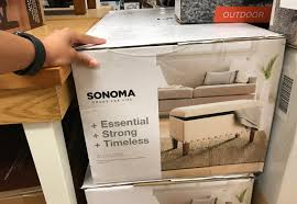 Kohls Sheer Curtain Panels by Sonoma Storage Ottomans As Low As 46 74 At Kohl U0027s The Krazy
