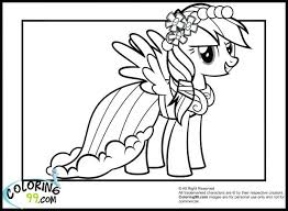 My Little Pony Fluttershy Coloring Sheets Pages Filly Rainbow Dash Colouring Pictures