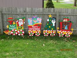 Christmas Polar Express Train Wood Outdoor Yard Art